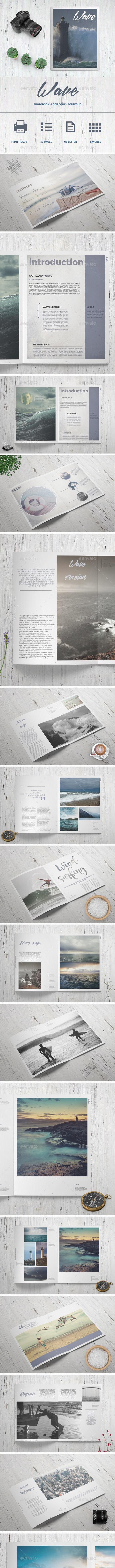 Wave - Photo Book - Photo Albums Print Templates