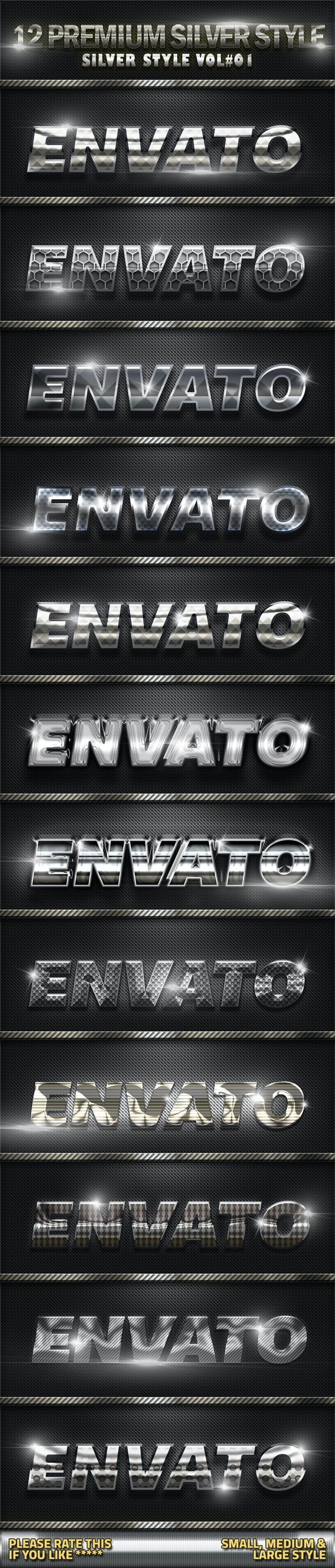 Metal Silver Style Photoshop V01  - Text Effects Styles