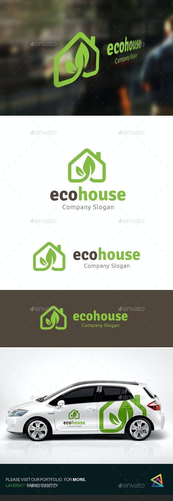 Eco House - Buildings Logo Templates