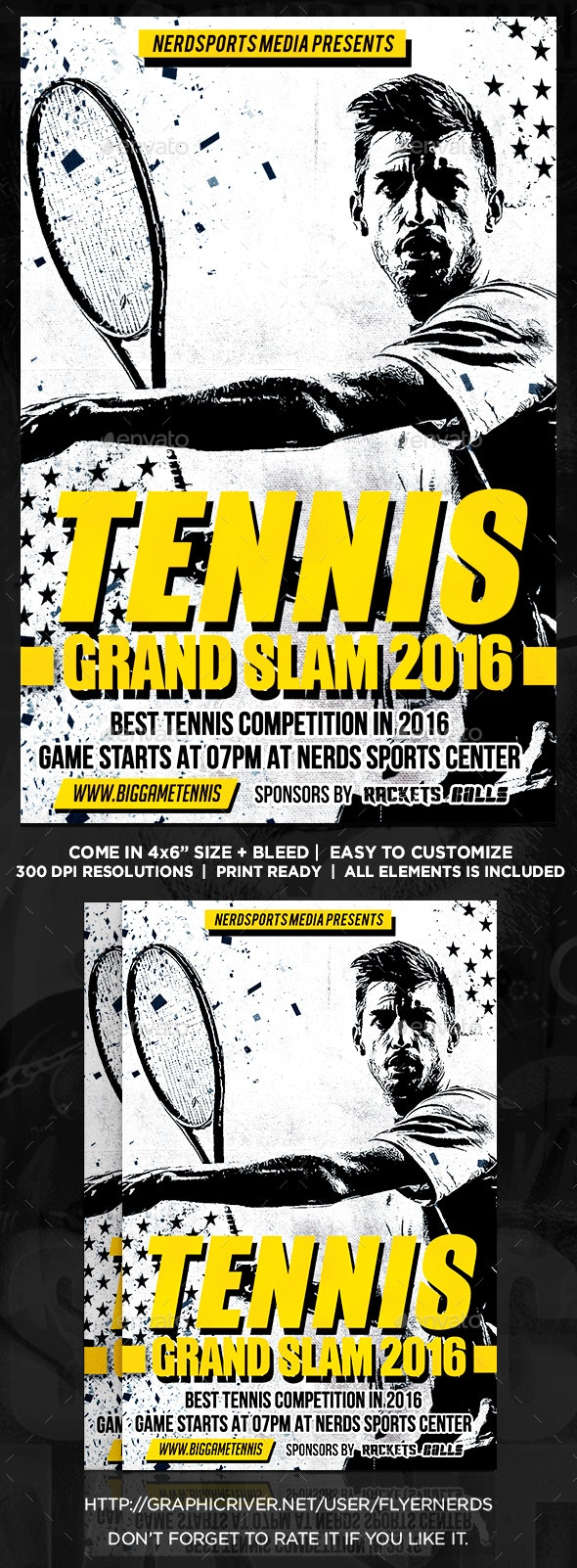 Tennis Competition Sports Flyer  - Sports Events