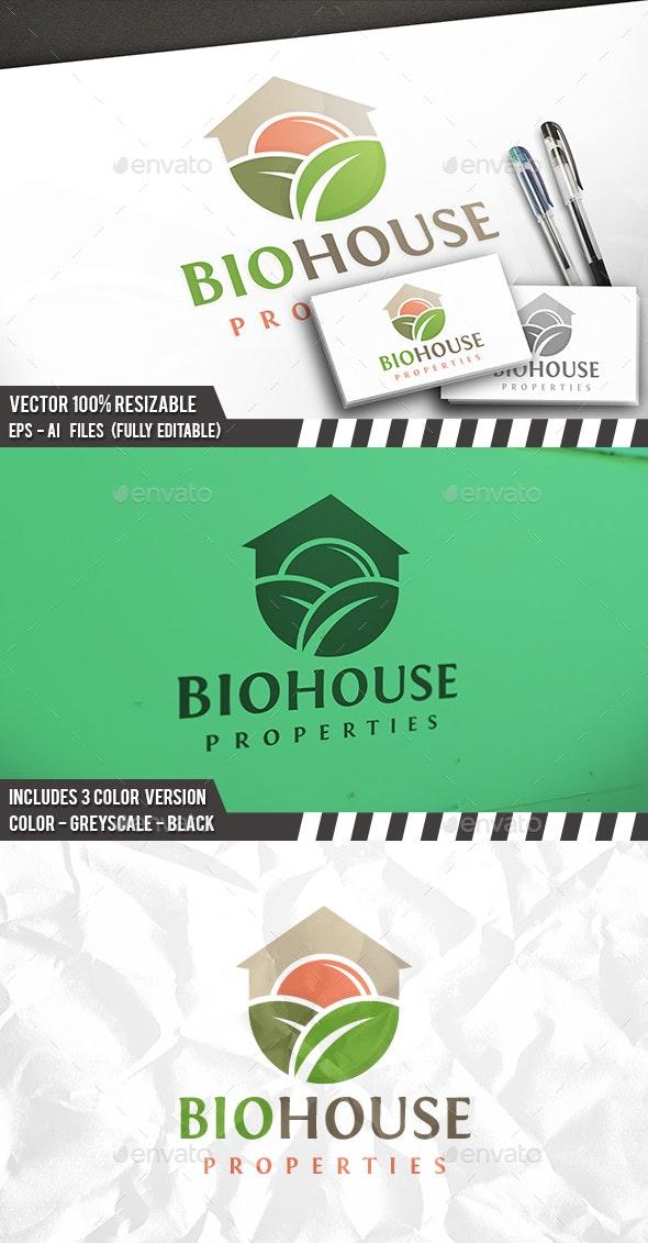 Bio House Logo - Buildings Logo Templates