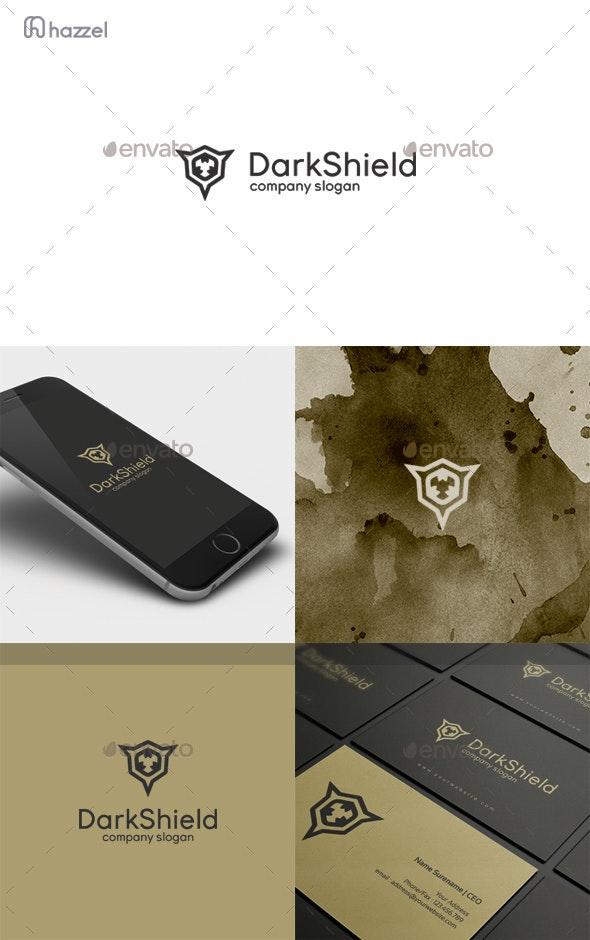 Dark Shield Logo - Vector Abstract
