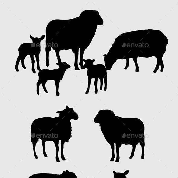 Sheep and Mouse Silhouettes