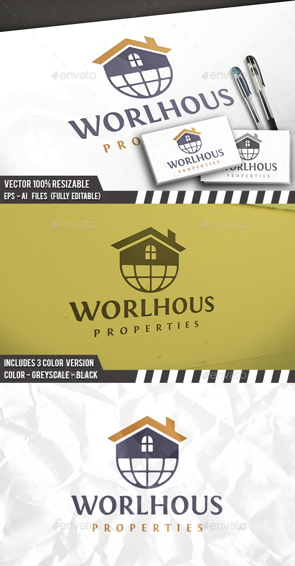 World Properties Logo - Buildings Logo Templates