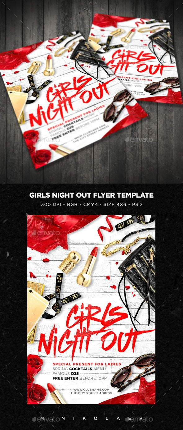 Girls Night Out Flyer V4 - Clubs & Parties Events