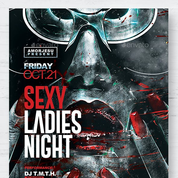 Sexy Ladies Night Flyer Template