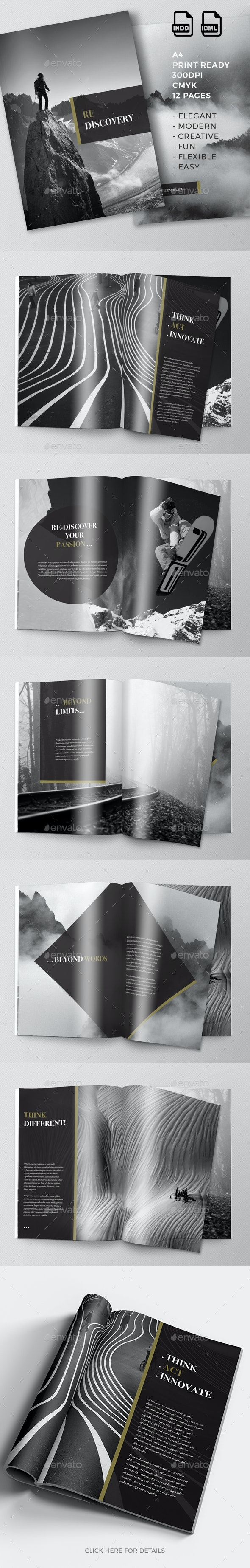 Re-Discovery | Motivational Creative Brochure - Brochures Print Templates