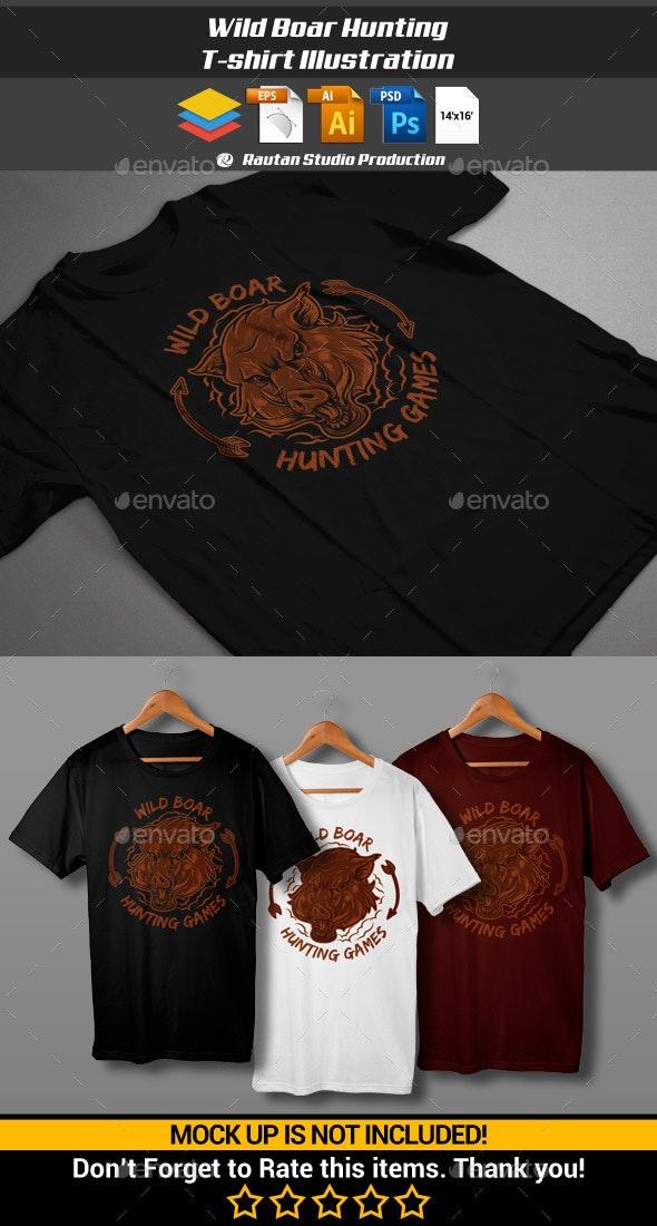 Wild Boar Hunting - Sports & Teams T-Shirts