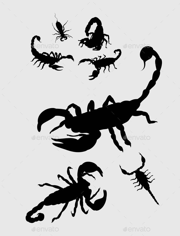 Scorpion Silhouettes - Animals Characters