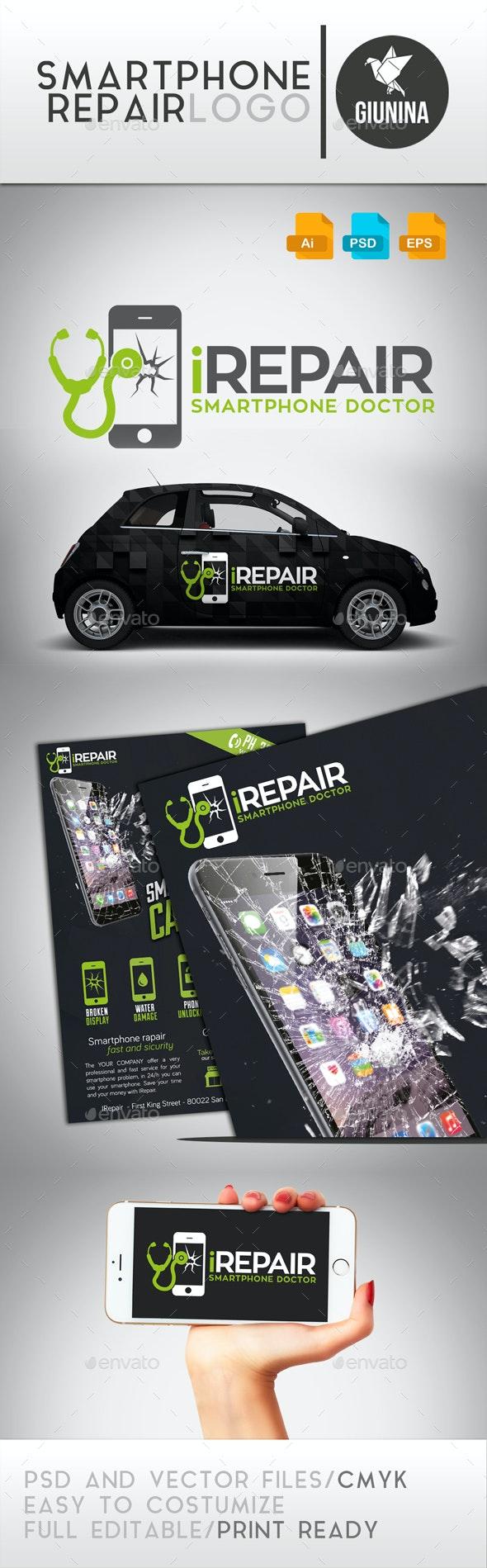 Smartphone Repair Logo Template - Logo Templates