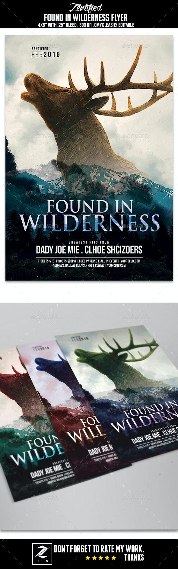 Found In Wilderness Flyer - Events Flyers