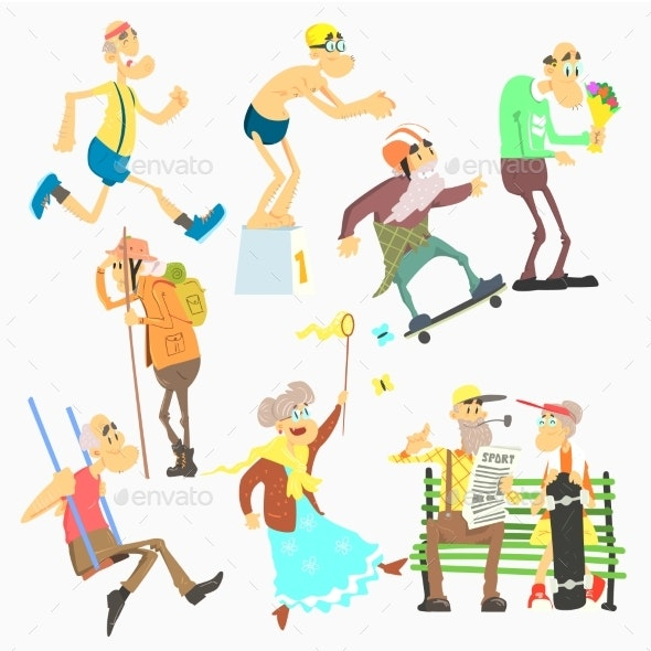 Old People Activities - People Characters