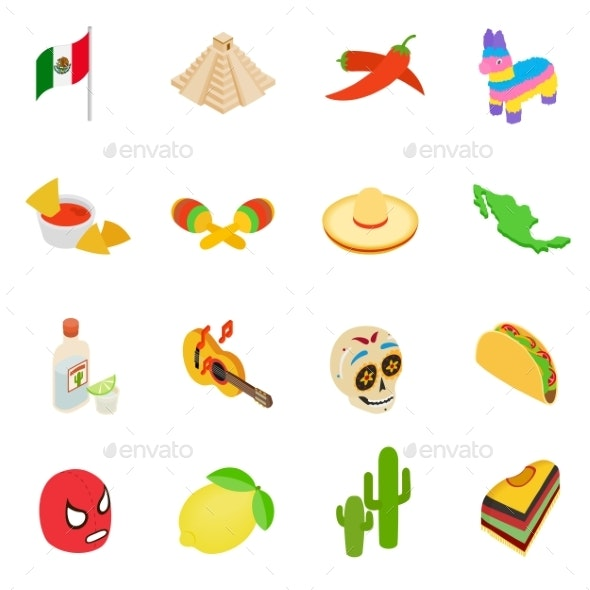 Mexico Isometric 3d Icons - Miscellaneous Icons