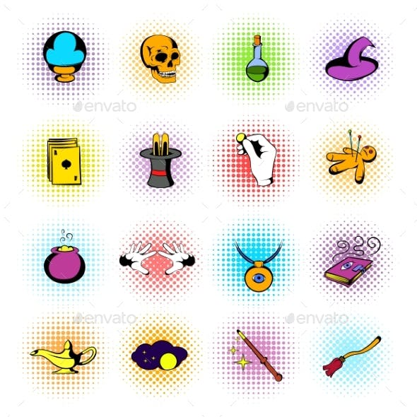 Magic Comics Icons