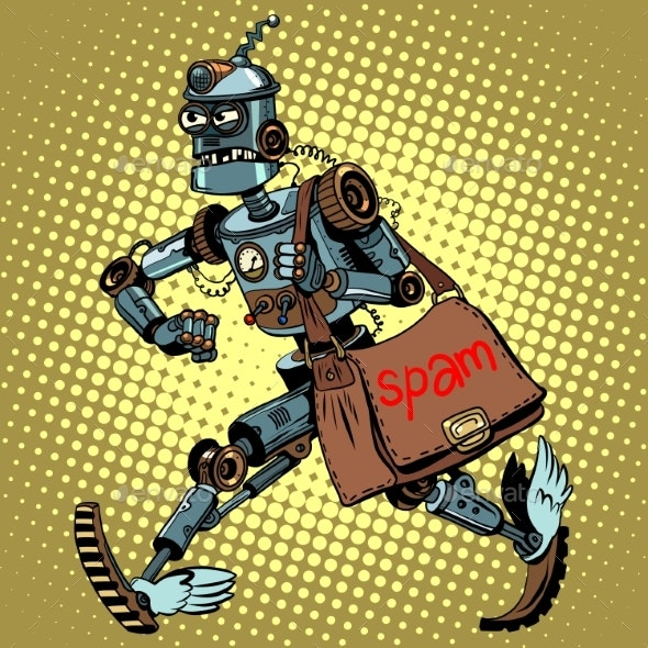 Electronic Spam Robot Postman Email - Services Commercial / Shopping