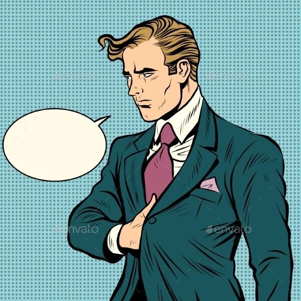Strong Man Businessman Leader - Concepts Business