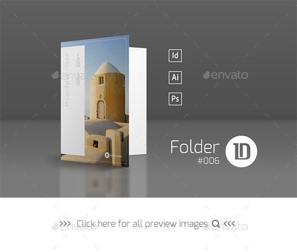 Presentation Folder Template 006 - Stationery Print Templates