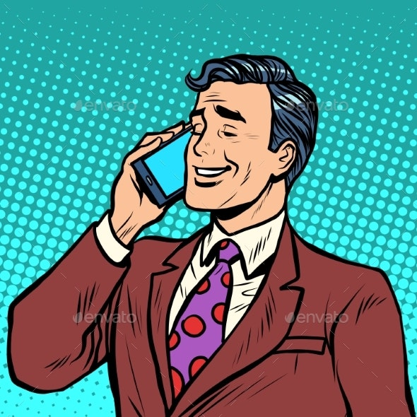 Businessman Talking on the Phone - Concepts Business