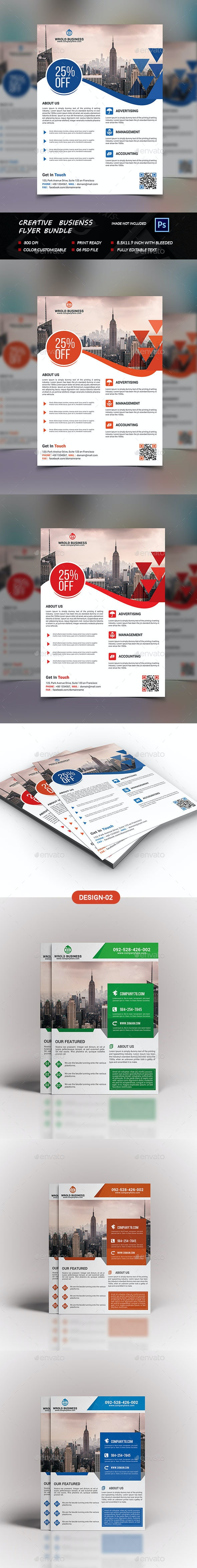 Creative Business Flyer Bundle - Flyers Print Templates