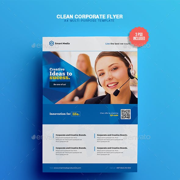 Clean & Corporate - A4 Flyer Template