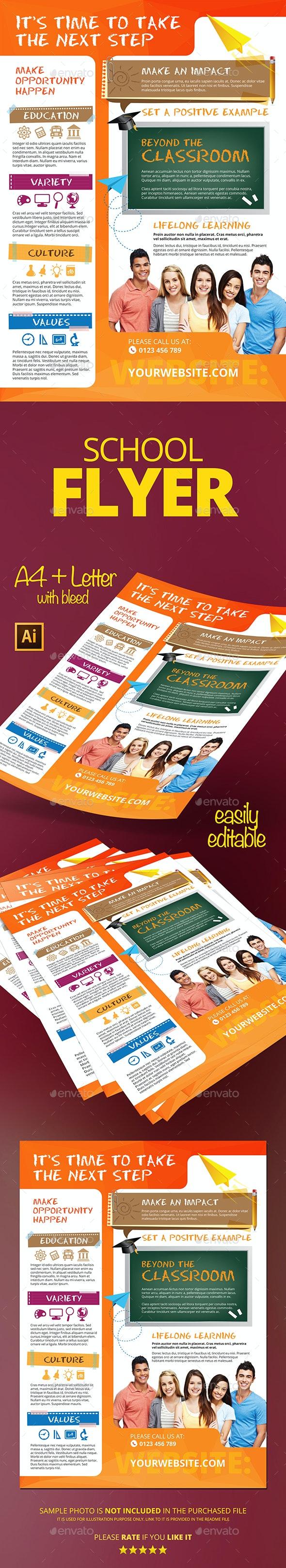 School Flyer - Flyers Print Templates