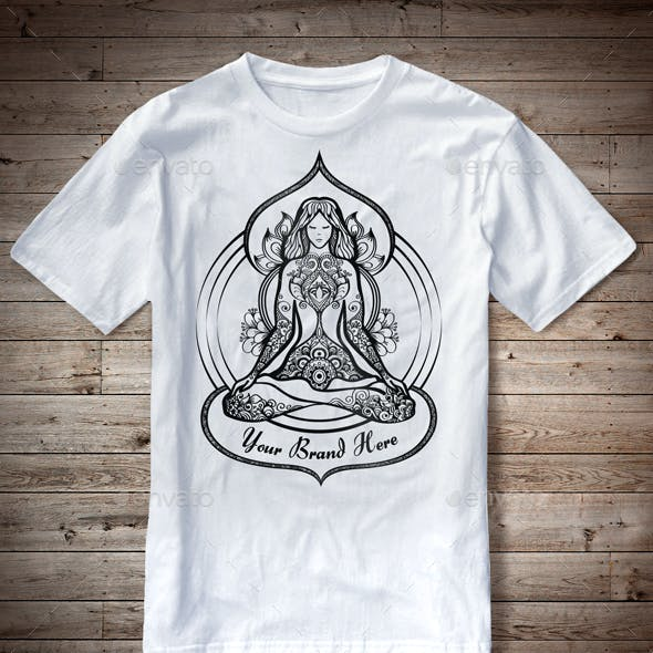 T-Shirt Illustration Yoga Theme