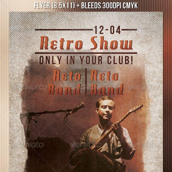 Retro Show Party Flyer