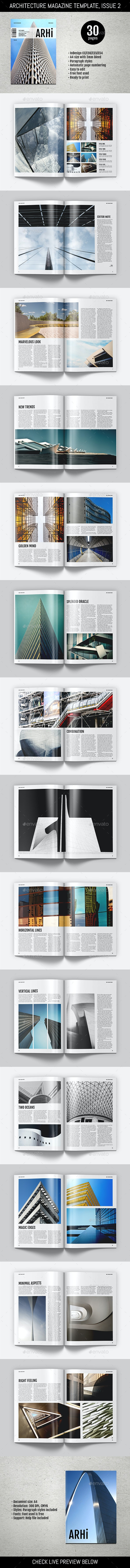Architecture Magazine Template - Magazines Print Templates