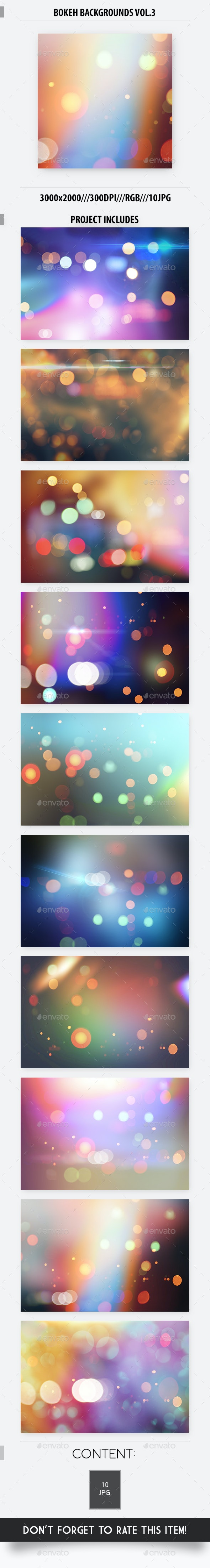 Bokeh Backgrounds Vol.3 - Abstract Backgrounds