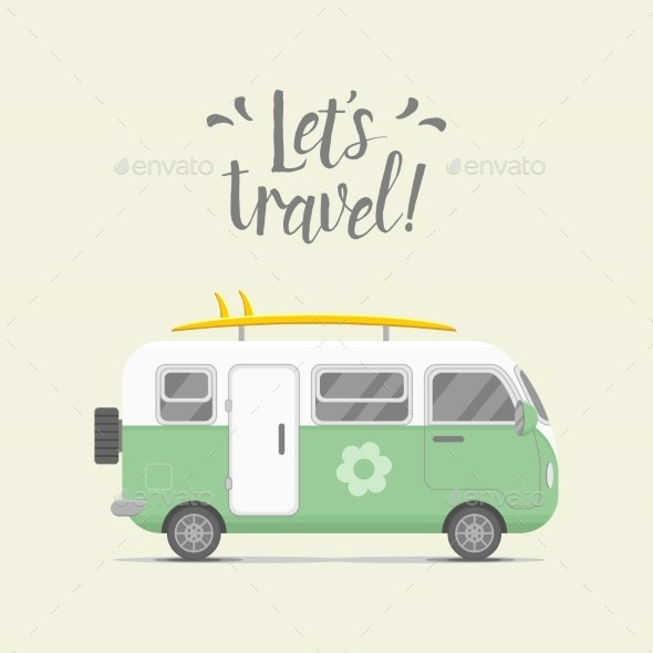 Caravan Trailer - Travel Conceptual