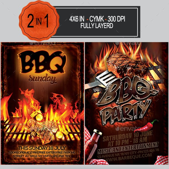 BBQ Flyer Bundle