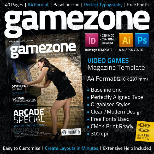 Video Game Magazine Template