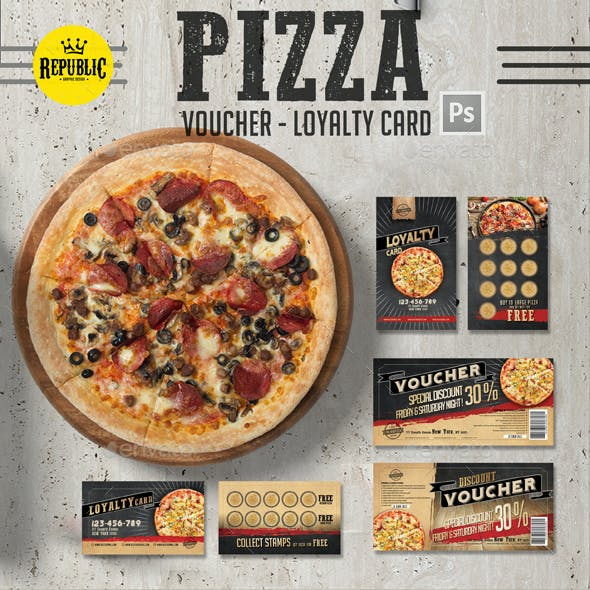Pizza Voucher Loyalty Card