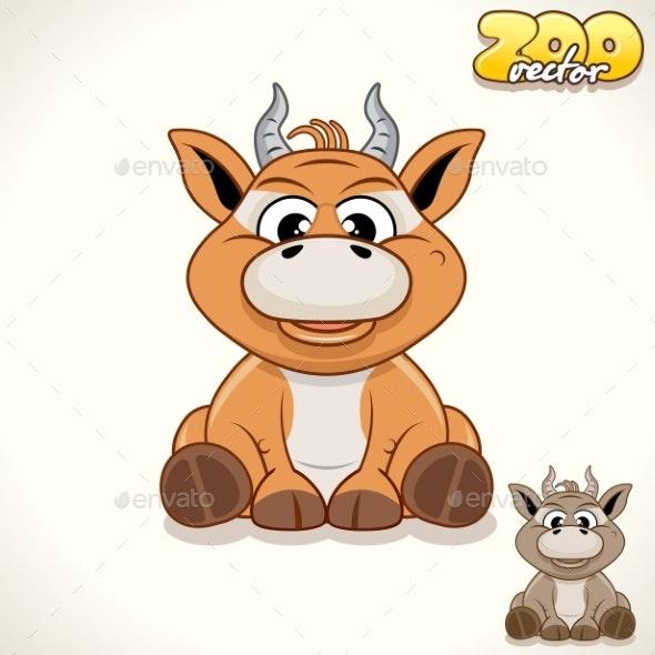 Cartoon Antelope Character - Animals Characters