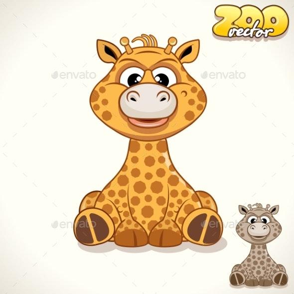 Cartoon Giraffe Character - Animals Characters