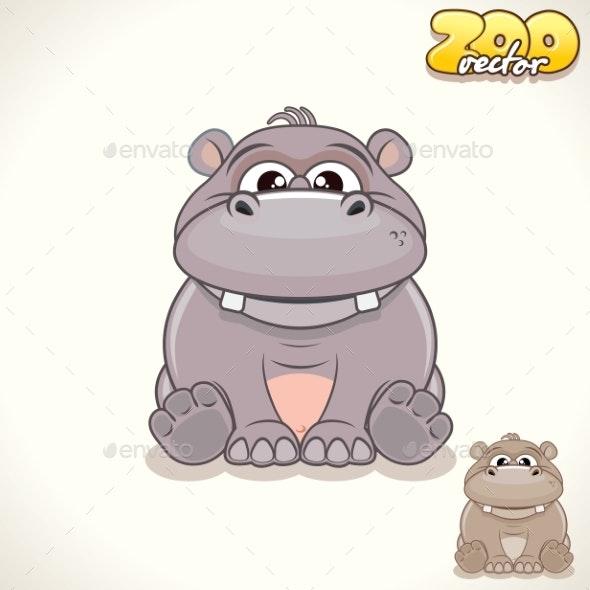 Cartoon Hippo Character - Animals Characters