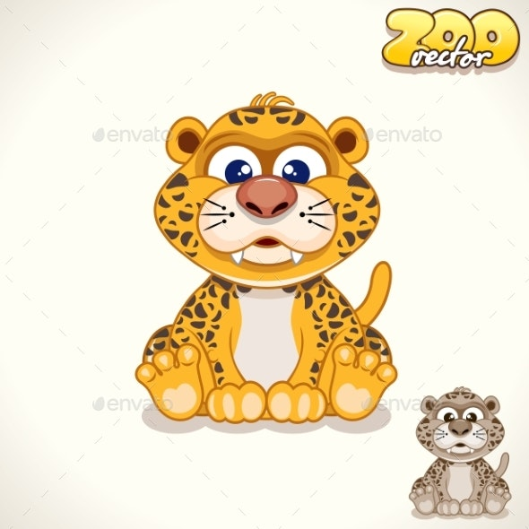 Cartoon Leopard Character - Animals Characters