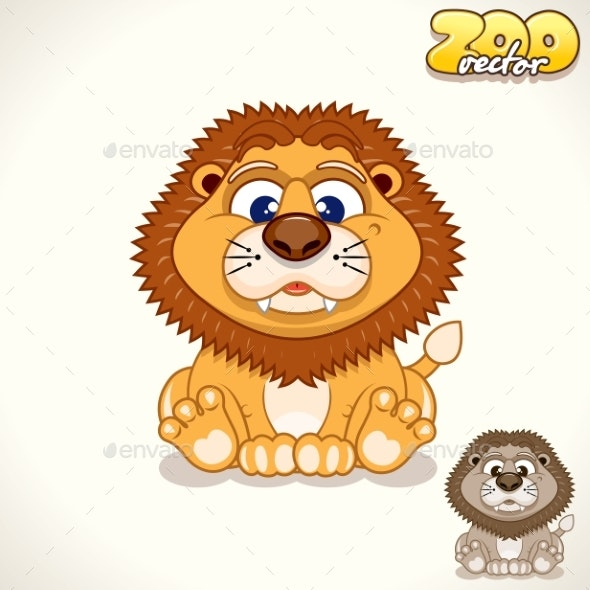 Cartoon Lion Character - Animals Characters