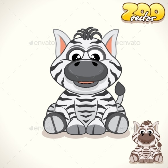 Cartoon Zebra Character - Animals Characters