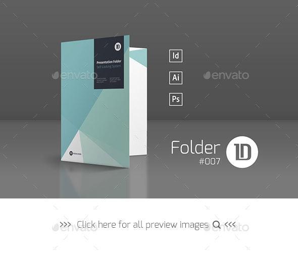 Presentation Folder Template 007 - Stationery Print Templates