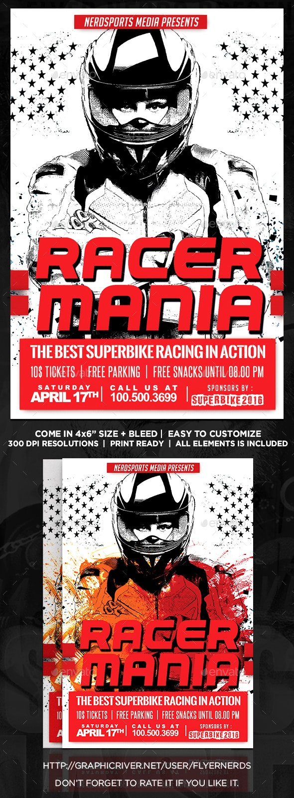 Racer Mania Sports Flyer. - Sports Events