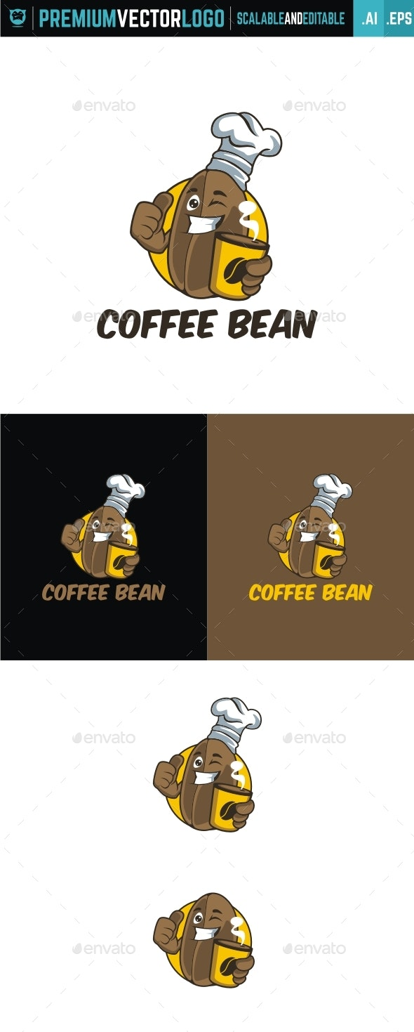 Coffee Bean - Food Logo Templates