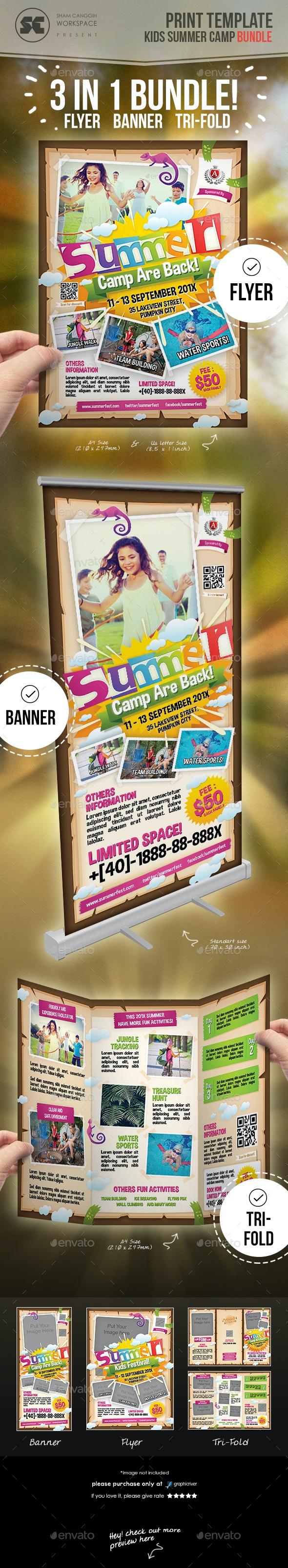 Kids Summer Camp Bundle - Miscellaneous Print Templates