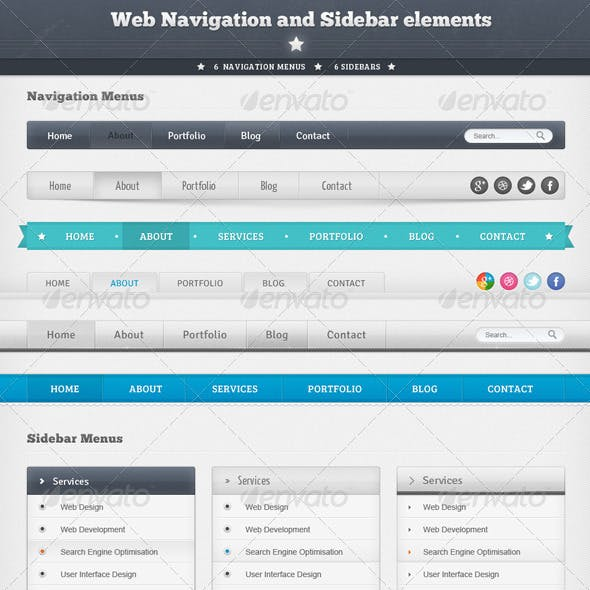 Web Navigation and Sidebar Elements