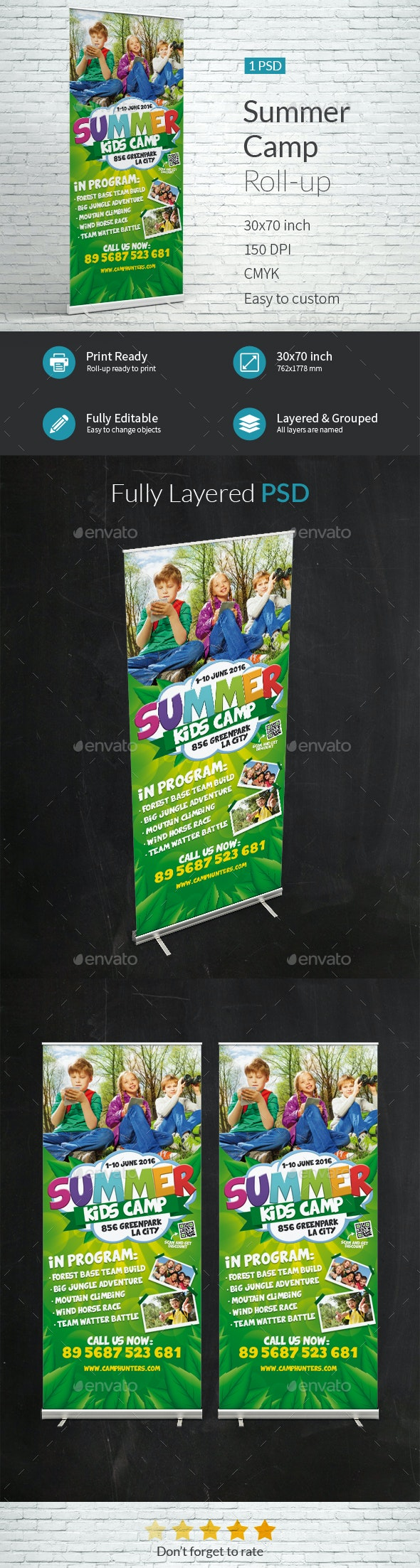 Summer Camp Roll-up Template - Signage Print Templates