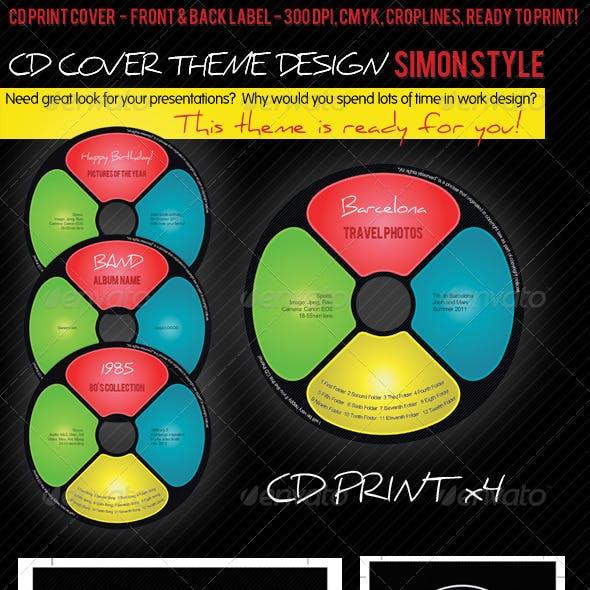 CD Cover Theme Design: Simon Style