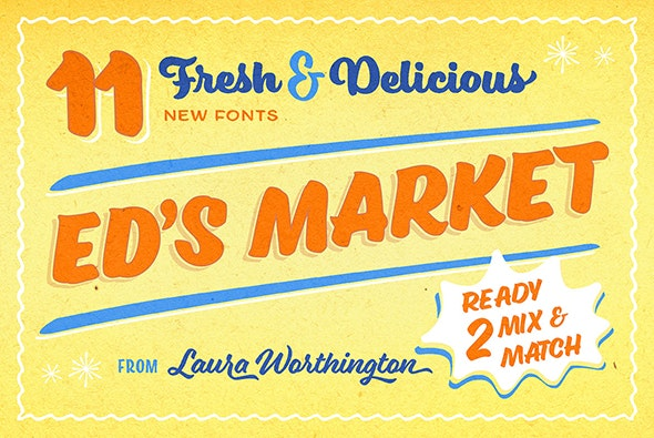Ed's Market Collection - Decorative Fonts