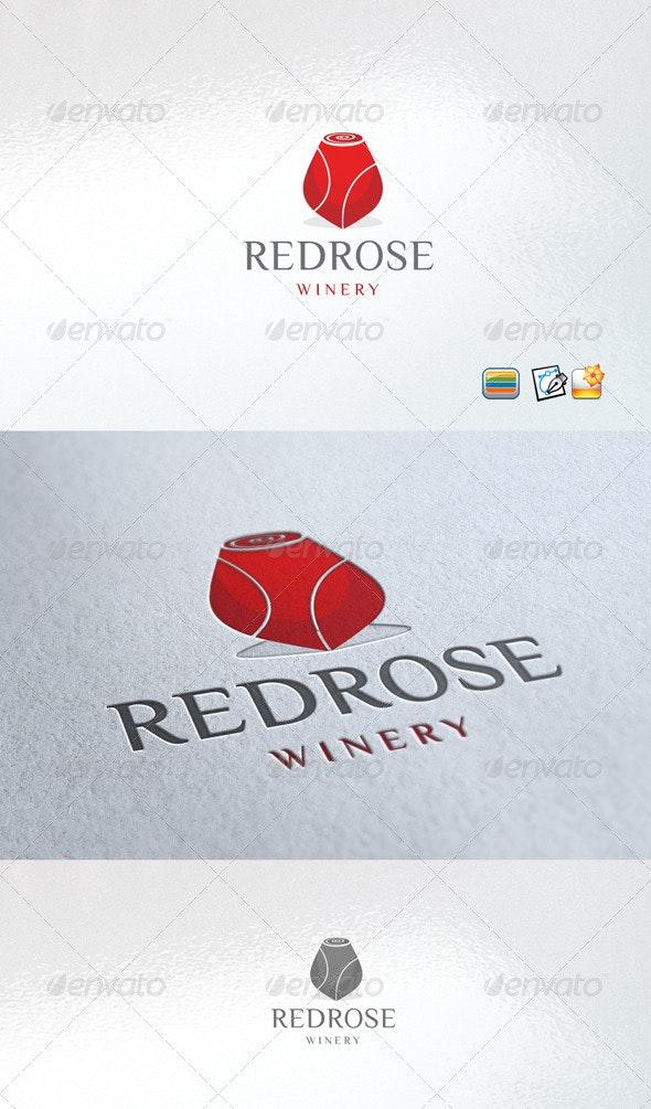 redrose winery - Food Logo Templates