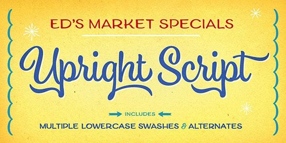 Ed's Market Upright Script - Script Fonts