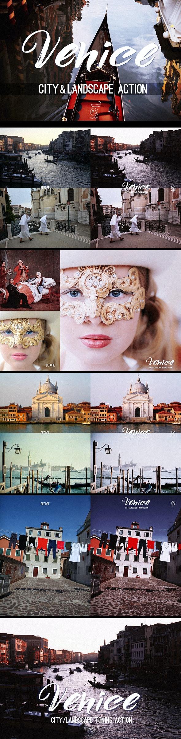 Venice Landscape Photoshop Action - atmospheric toning for urban, cityscape & landscape photography - Photo Effects Actions